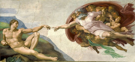 Creation of Adam, Michelangelo, Sistene Chapel